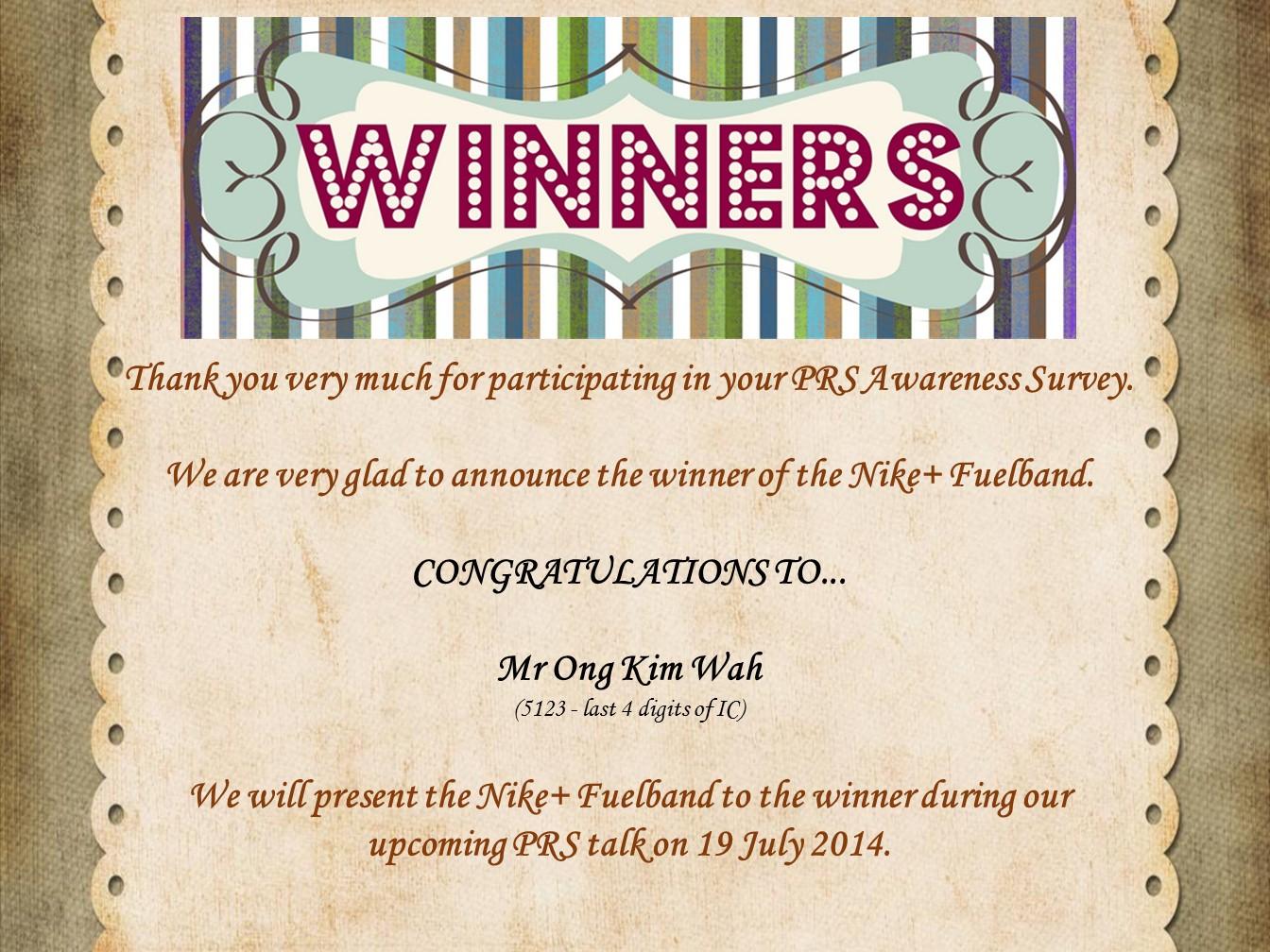 Winner of Nike FuelBand